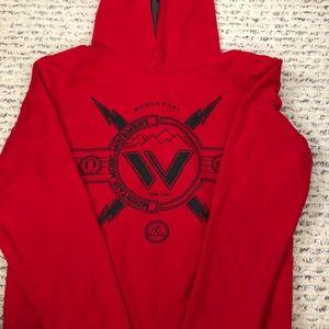 Shaun White red boys hoodie sweat shirt